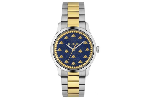 Gucci全新G-TIMELESS系列自动上弦腕表,宝石与黄金的融合