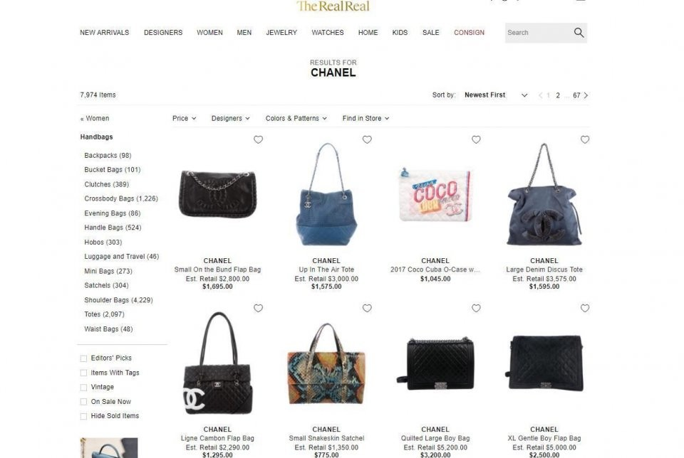 Chanel与二手奢侈品网站The RealReal的矛盾再次升级