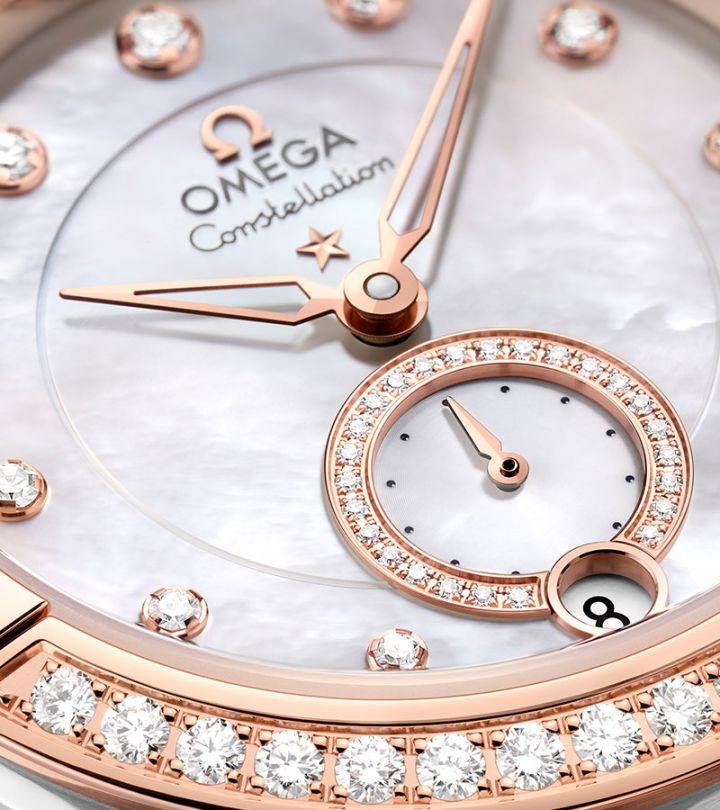 欧米茄手表回收,回收欧米茄手表,欧米茄星座系列小秒针腕表